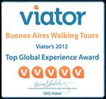 Viator 5 Star Rating  Award 2012